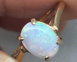 (B4) Sublime $900 Nat 1.00ct Australian Opal Ring