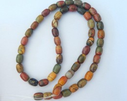126.5ct Natural Muti Color Picasso Jasper Drum Shape Loose Beads(18011502)
