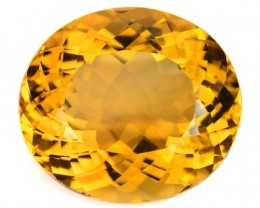 ~BEAUTIFUL~ 13.95 Cts Natural Citrine Golden Orange Oval Brazil