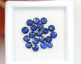 Lot 02 ~ 2.89Ct 2-3mm Natural VS Clarity Royal Blue Color Sapphire