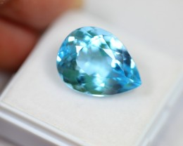 Lot 11 ~ 13.89Ct Natural VS Clarity Swiss Blue Color Topaz