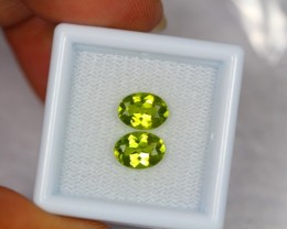 2.56Ct Natural Green Peridot Oval Cut Lot V494