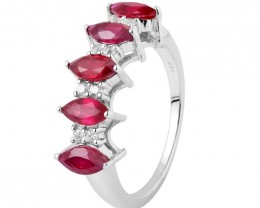 Ruby 925 Sterling silver ring #112
