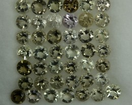 4.88 Cts Natural Diaspore 3 mm Round 44 Pcs Parcel