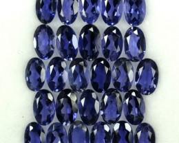 5.70 Cts Natural Deep Blue Iolite 27 Pcs Oval (5x3 mm) Tanzania