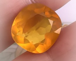 6.20ct BRIGHT BEAUTIFUL GOLDEN ORANGE MEXICAN FIRE OPAL NR