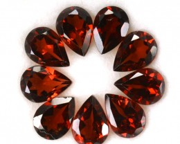 7.28Cts Natural Rhodolite Garnet 7x5 mm Pear 9 Pcs Parcel