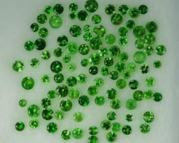 2.01 Cts Natural Green Tsavorite Garnet 1.50 - 2.00 mm Round 101 Pcs Parcel