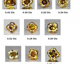 Private Auction 2.55 Cts Natural Fancy Yellow Diamond