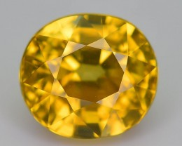 Certified 2.99 ct Imperial Zircon Untreated Combodia S.2