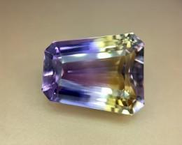 14.60 Crt Natural TOP Qualiy Ametrine  Faceted Gemstone (R 124)