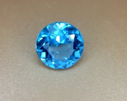 1.35 Crt Natural London Blue Topaz Faceted Gemstone (935)