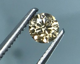 HKD CRT RARE BROWN PINKISH DAIMOND WITH SPARKLING LUSTER