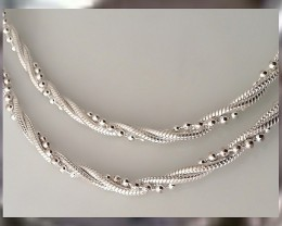 THE MOST ELEGANT SILVER NECKLACE EVER CREATED ~ HALLMARK STAMPED 925