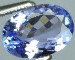 1.10 CTS MIND BOGGLING NATURAL RICH FIRE BLUE OVAL-CUT TANZANITE NR!!!