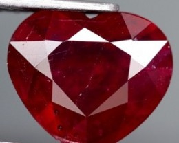 3.99 Cts. Top Quality  Blood Red Ntural Ruby Madagascar Gem