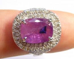 IGI CERTIFIED 5.67ct  BURMESE RUBY RING Set  With 1.00ct Diamonds
