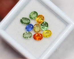 Lot 08 ~ 3.30Ct Oval 4x3mm Natural Multi-color Sapphire