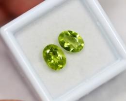 Lot 15 ~ 2.67Ct 8x6mm Natural VS Clarity Green Color Himalayan Peridot