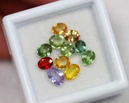 NR Lot 10 ~ 4.17Ct Mix Size Natural Multi-color Sapphire