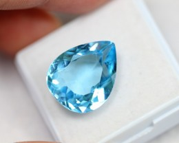 NR Lot 13 ~ 12.43Ct Natural VS Clarity Swiss Blue Color Topaz