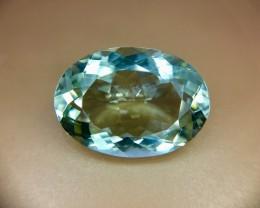 10.0 Crt Natural Green Amethyst Prasoilite Faceted Gemstone (R 125)
