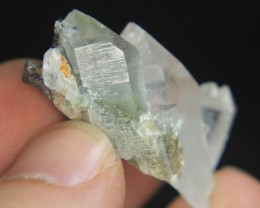 Rare Natural Burkite Combine With Chlorine Quartz Cluster For Collector's G