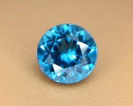 1.50 Crt Natural London Blue Topaz Faceted Gemstone (936)