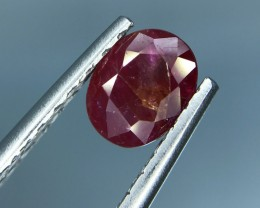 1.46 CT GIL CERTIFIED UNHEATED RED RUBY GOOD QUALITY GEMSTONE