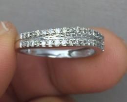 (B5) Stunning $1975 34 Round Brilliant Cut Diamond Ring Band