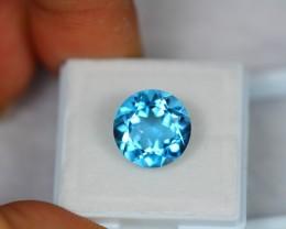 8.23Ct Natural Blue Topaz Round Cut Lot LZ212
