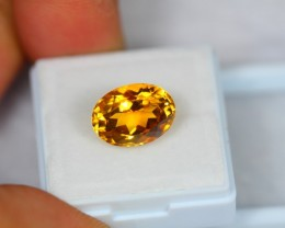 6.44Ct Natural Yellow Citrine Oval Cut Lot LZ213