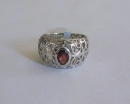 Garnet filigree 925 Sterling silver ring