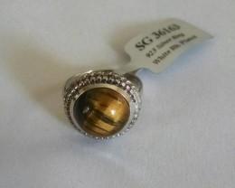 Tiger eye 925 Sterling silver ring