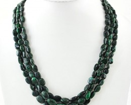 309.50 cts Emerald Necklace of 3 strands