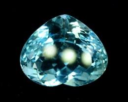26.45 cts Heart Shape Cut Fantastic Blue Topaz Loose Gemstone