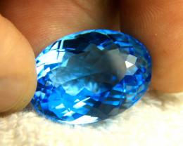 40.34 Carat Vibrant Blue VVS1 Brazil Topaz - Gorgeous
