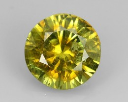 1.40 Cts SPLENDID RARE NATURAL YELLOWISE-GREEN DEMANTOID RUSSIA