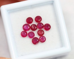 Lot 07 ~ 2.38Ct 3mm Natural VS Clarity Blood Red Color Ruby