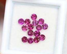Lot 11 ~ 2.19Ct 3mm Natural VS Clarity Vivid Violet Rhodolite Garnet