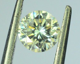 Certified 0.39 ct Natural Round Brilliant Cut White Diamond