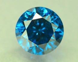 0.55 ct Natural Round Brilliant Cut Blue Diamond