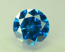 0.50 ct Natural Round Brilliant Cut Blue Diamond