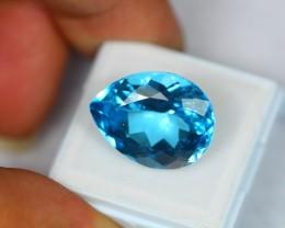 22.34Ct Natural Blue Topaz Pear Cut Lot V515