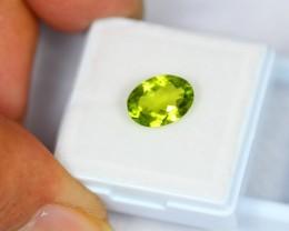 2.34Ct Natural Green Peridot Oval Cut Lot V521
