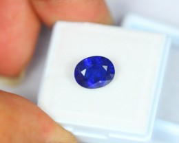 4.11Ct Natural Blue Sapphire Oval Cut Lot V529