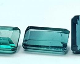 3.5 Cts Natural Blue 3 Pieces Tourmaline Gemstone