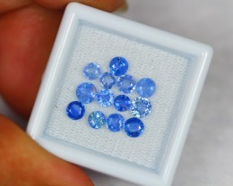3.28ct Natural Blue Kyanite Round Cut Lot GW518