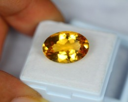 7.73Ct Natural Yellow Citrine Oval Cut Lot LZ229