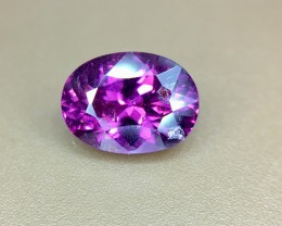 1.85 Crt Natural Purple Rhodolite Garnet Faceted Gemstone (937)